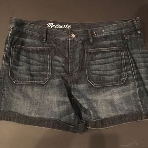 Madewell Jean Shorts Sz 32 Button Fly